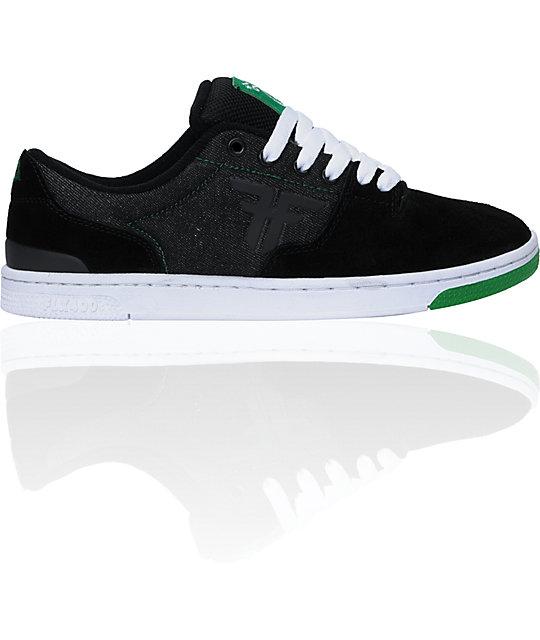 Fallen x LRG Seventy Six Black Suede & Denim Skate Shoes