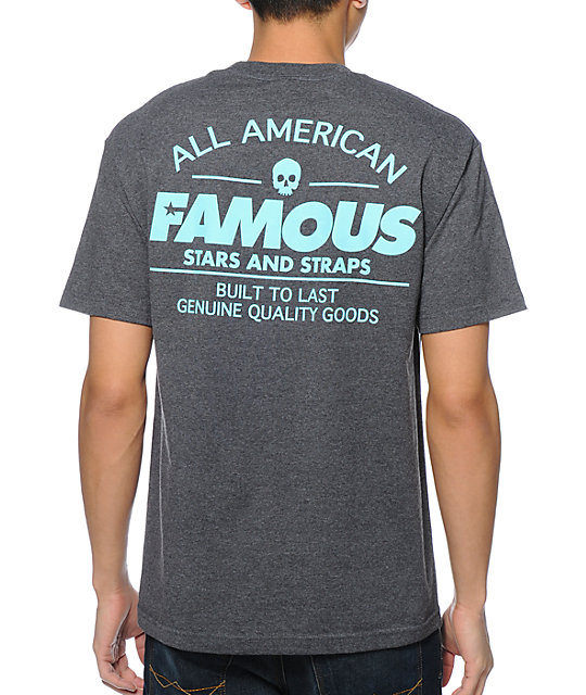 Famous Stars & Straps AM Built Fast Charcoal T-Shirt