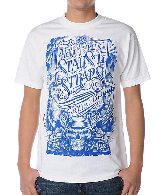 Famous Stars & Straps Art Parlor White T-Shirt