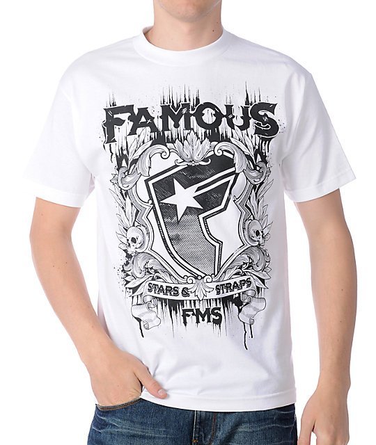 Famous Stars & Straps Author White T-Shirt