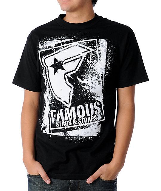 Famous Stars & Straps BOH Stencil Black & White