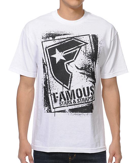 Famous Stars & Straps BOH Stencil White T-Shirt