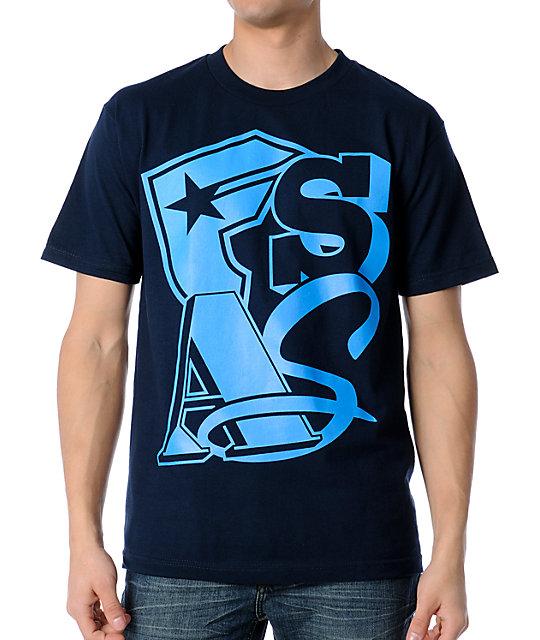 Famous Stars & Straps Big Up Blue T-Shirt