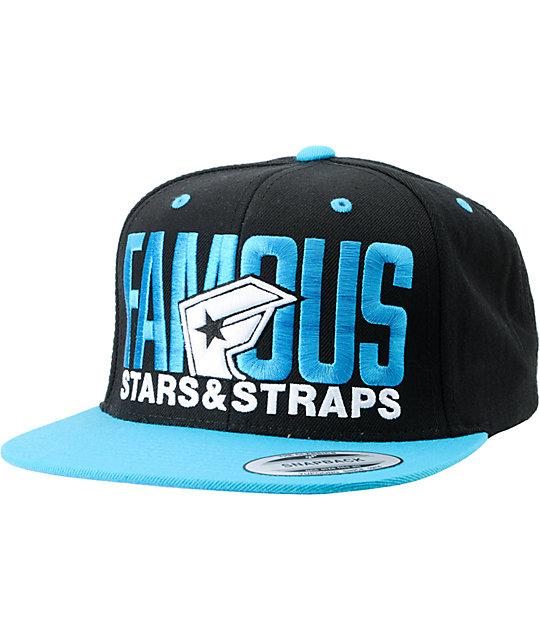 Famous Stars & Straps Blockout Blue Snapback Hat