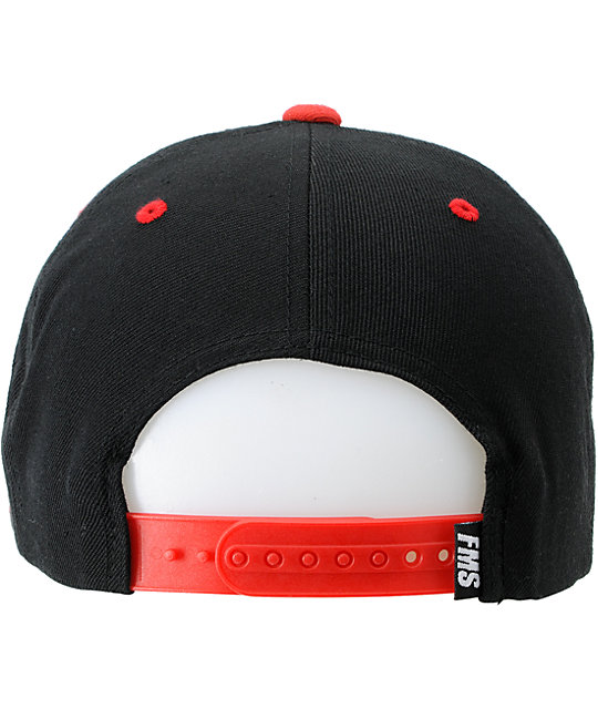 Famous Stars & Straps Blockout Red Snapback Hat