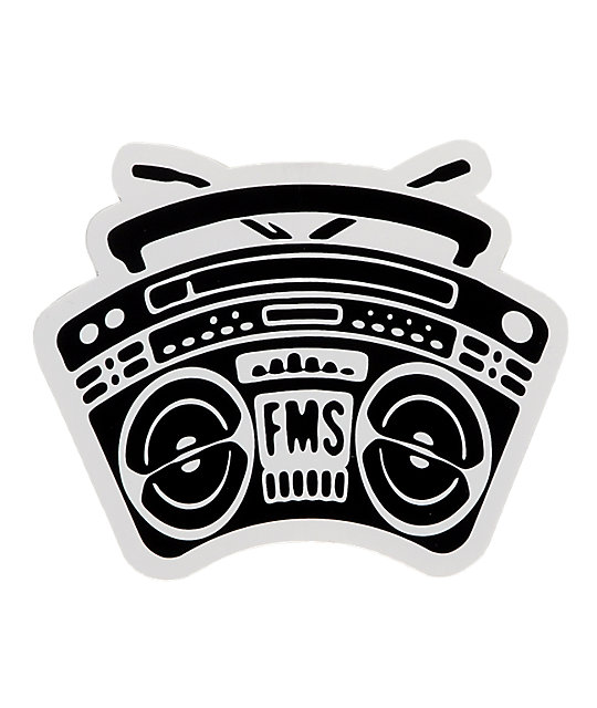 Famous Stars & Straps Boombox BOH Sticker
