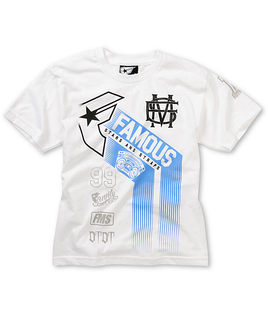 Famous Stars & Straps Boys Accelerate White T-Shirt