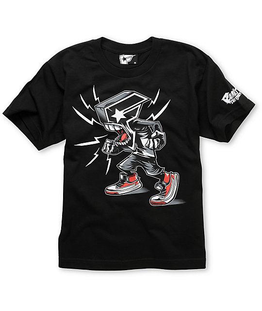 Famous Stars & Straps Boys BOH Rage Black T-Shirt