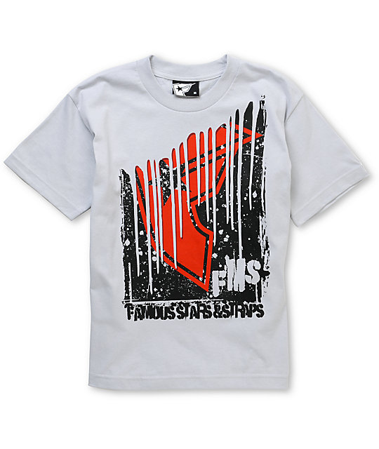 Famous Stars & Straps Boys Downer Silver T-Shirt