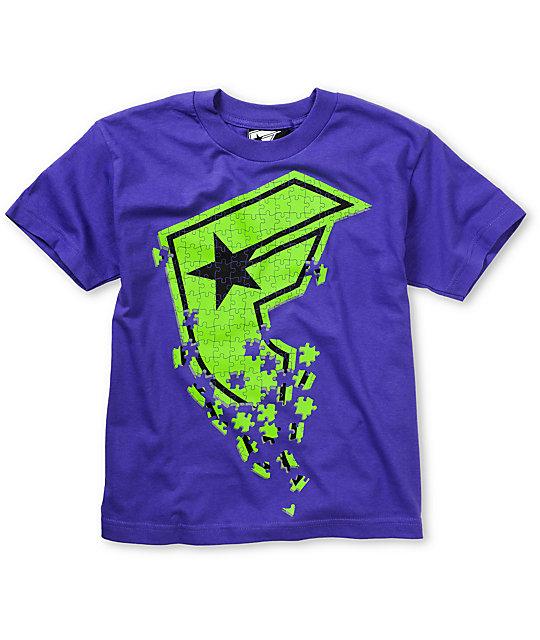 Famous Stars & Straps Boys Puzzle Purple T-Shirt
