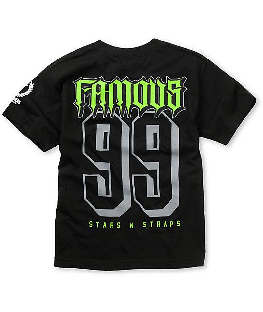 Famous Stars & Straps Boys Rally Fam Black & Lime T-Shirt