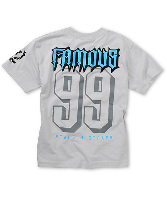 Famous Stars & Straps Boys Rally Fam Silver T-Shirt