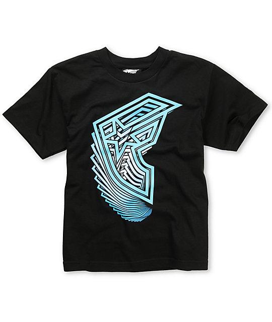 Famous Stars & Straps Boys Vertigo Black T-Shirt