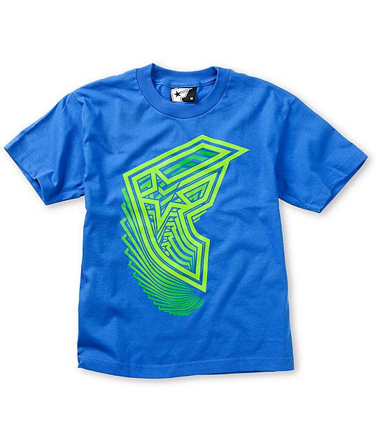 Famous Stars & Straps Boys Vertigo Blue T-Shirt