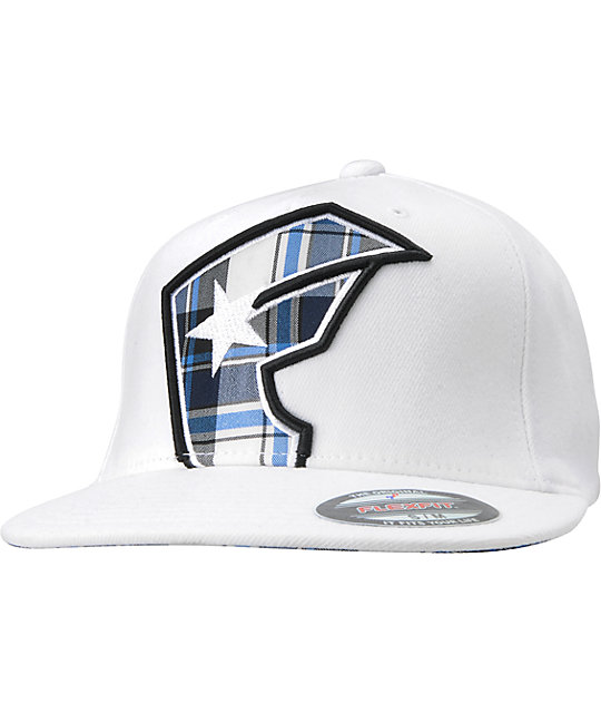 Famous Stars & Straps Cheshire White & Blue Flexfit Hat