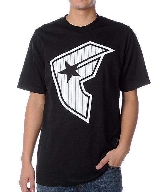 Famous Stars & Straps Classic Stripe BOH Black T-Shirt