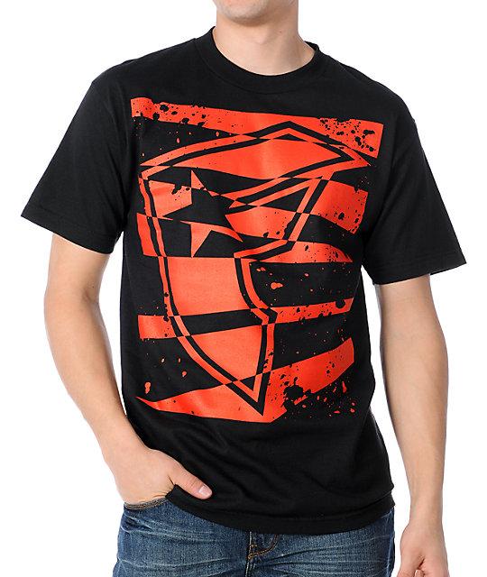Famous Stars & Straps CutOut  Black T-Shirt