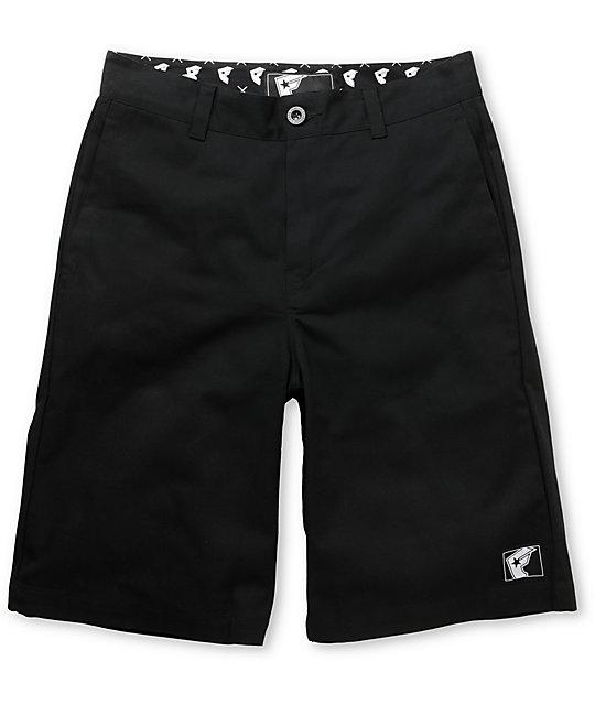 Famous Stars & Straps FMS Black Chino Shorts