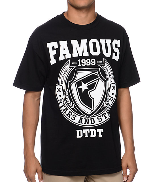 Famous Stars & Straps FMS Division Black T-Shirt