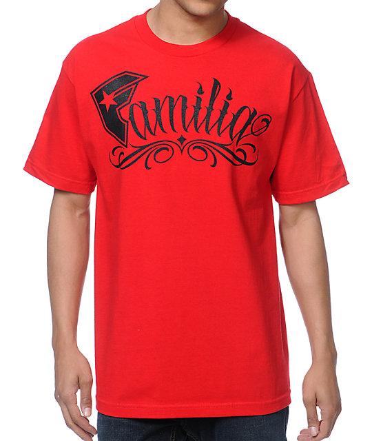 Famous Stars & Straps Familia Red T-Shirt