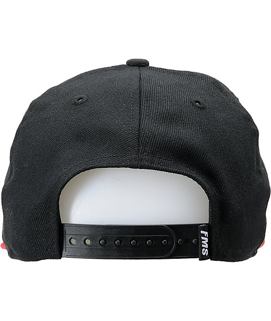 Famous Stars & Straps Family Black & Red New Era Snapback Hat