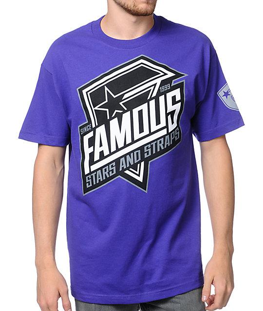 Famous Stars & Straps Fast Pace Purple T-Shirt
