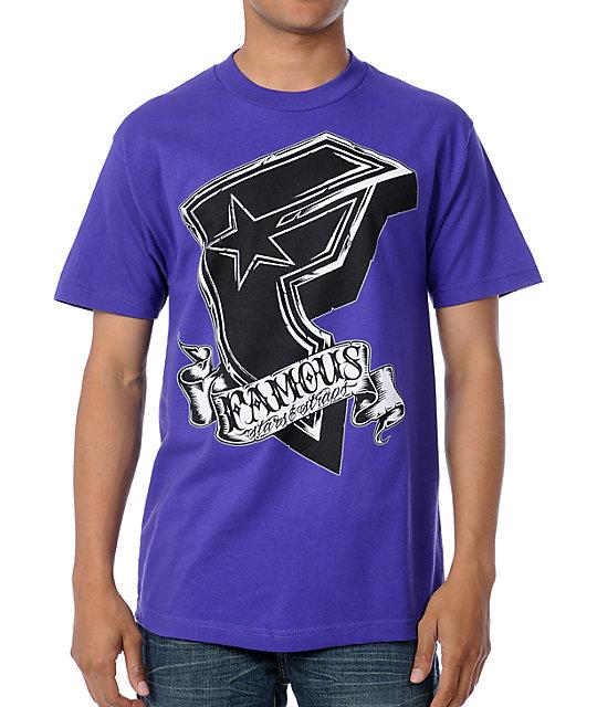 Famous Stars & Straps Faster BOH Kill Kill Purple T-Shirt