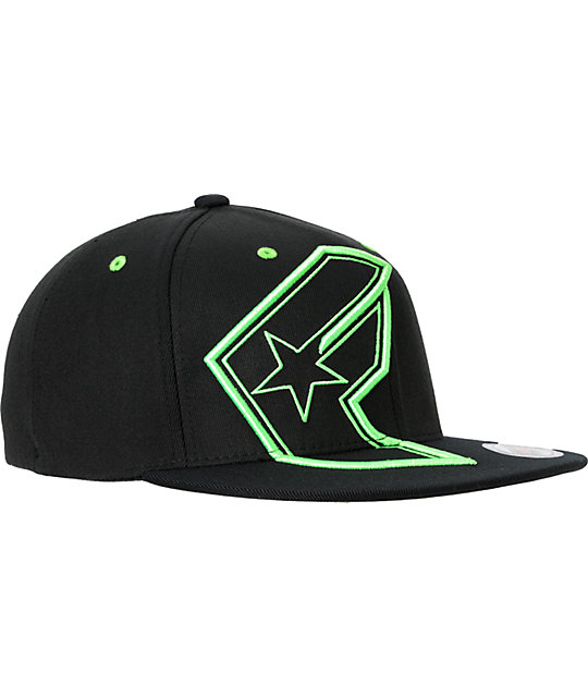 Famous Stars & Straps Giant BOH Black & Green Hat