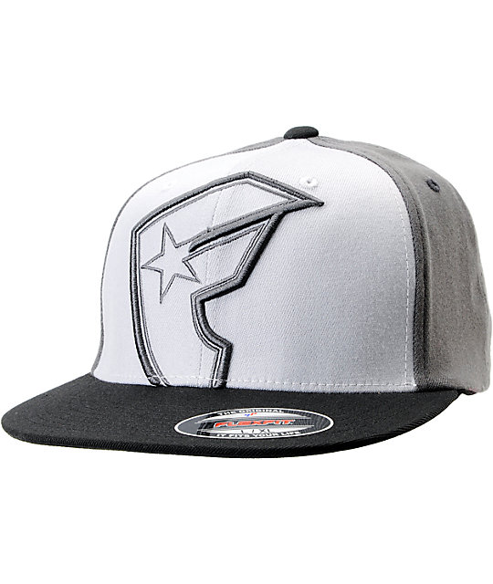 Famous Stars & Straps Giant Hollow BOH Charcoal Flexfit Hat
