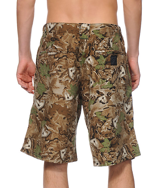 Famous Stars & Straps Laced Camo Hybrid Shorts