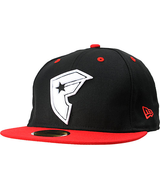 Famous Stars & Straps Nine To Five Black & Red New Era Fitted Hat