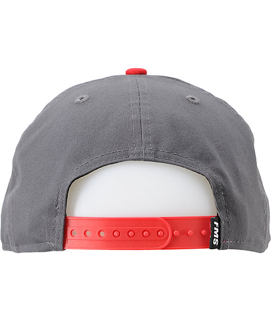 Famous Stars & Straps OG Charcoal & Red New Era Snapback Hat