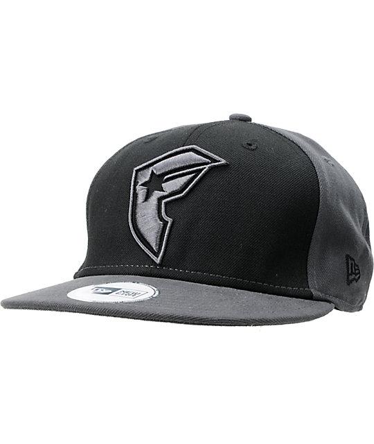Famous Stars & Straps OG Grey & Black New Era Snapback Hat