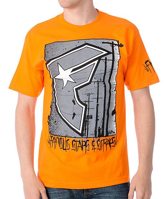Famous Stars & Straps Power Lines Orange T-Shirt