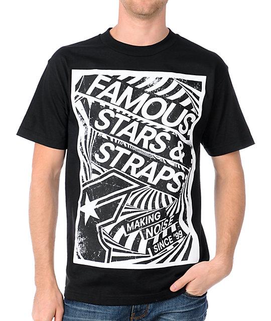 Famous Stars & Straps Raise Up Black T-Shirt