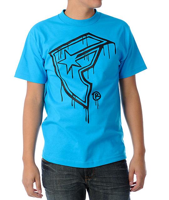 Famous Stars & Straps Sloppy Turquoise & Black  T-Shirt