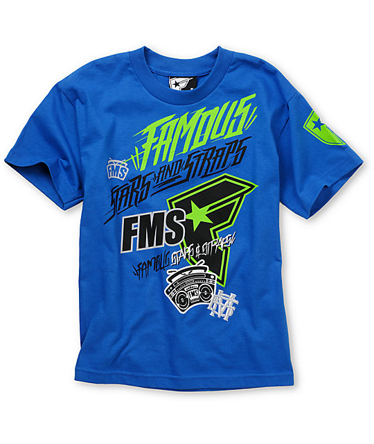 Famous Stars & Straps Swish Boys Blue T-Shirt