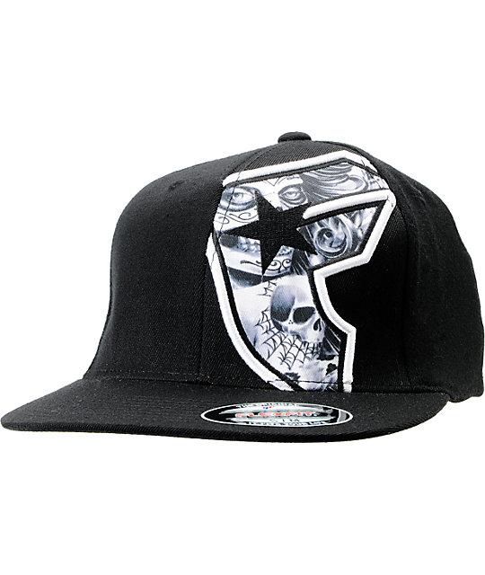 Famous Stars & Straps Voodoo Black Flexfit Hat