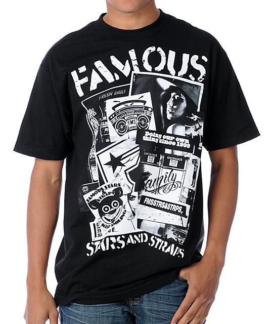 Famous Stars & Straps Workshop Black T-Shirt