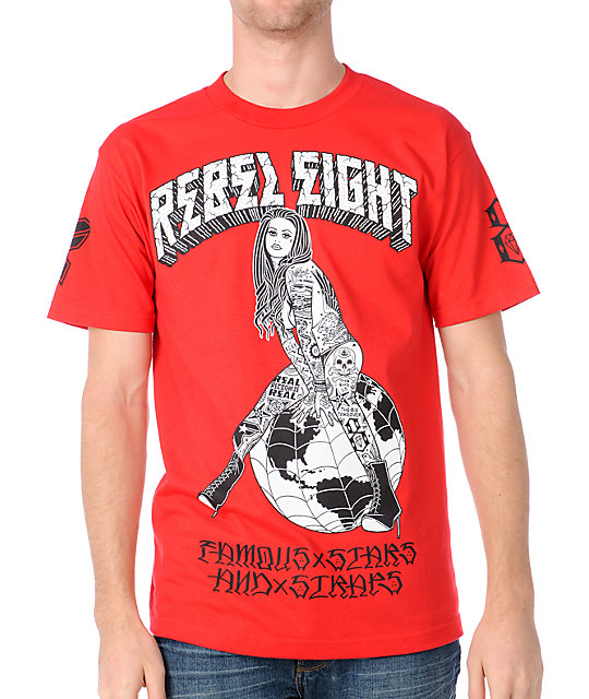 Famous Stars & Straps x Rebel 8 Earth Are Easy Red T-Shirt