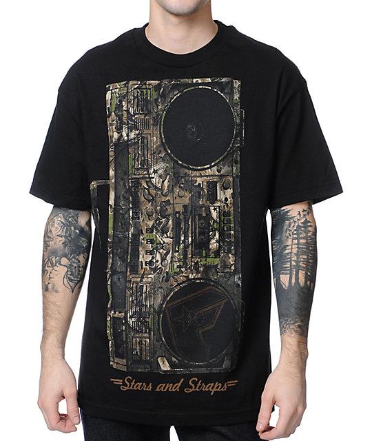 Famous Stars & Straps x Yelawolf Lets Roll Camo Black T-Shirt