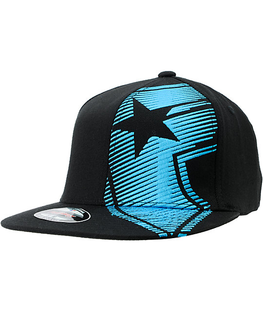 Famous Stars and Straps Motion Black & Turquoise Flexfit Hat