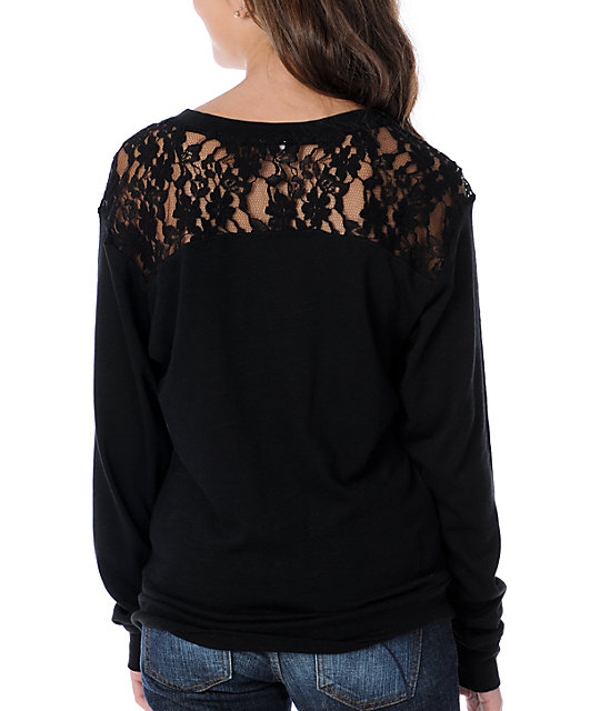 Fatal Charm Amelia Black Lace Top