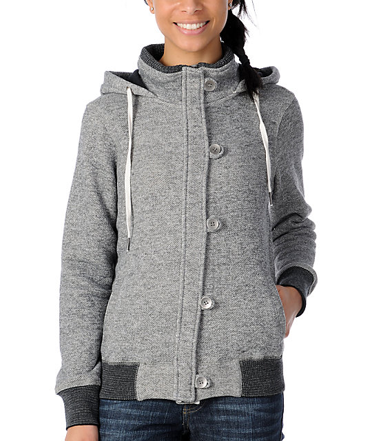 Fatal Charm Quartz Charcoal Hooded Sweatshirt Jacket