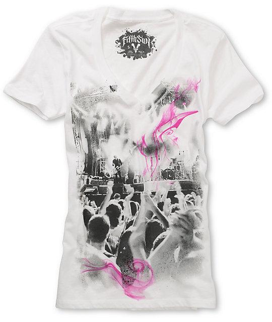 Fifth Sun  Concert Smoke White T-Shirt