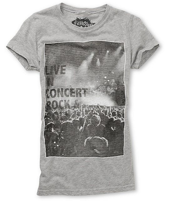 Fifth Sun  Live Static Grey T-Shirt