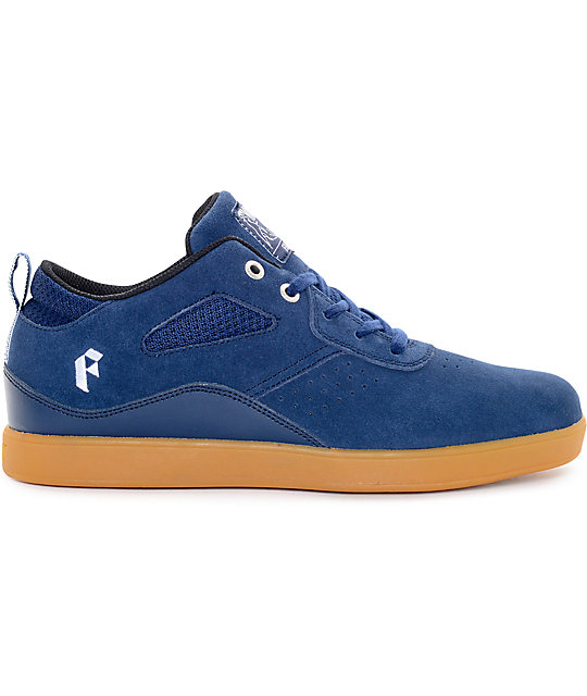 Filament Moose Navy & Gum Suede Skate Shoes