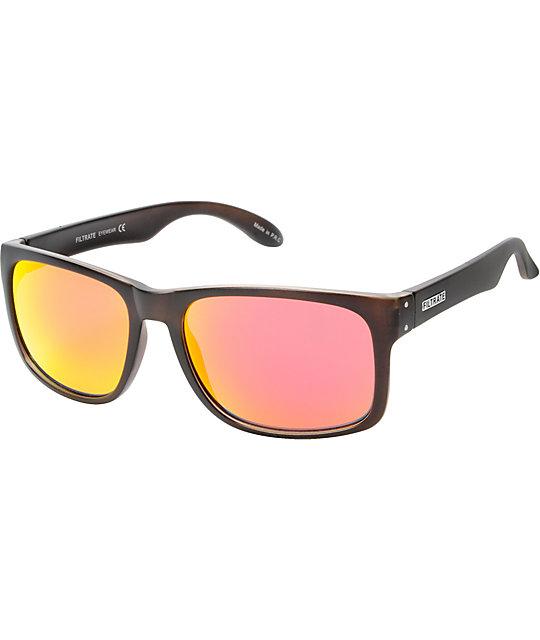 Filtrate Sink Clear Grey & Red Mirror Polarized Sunglasses