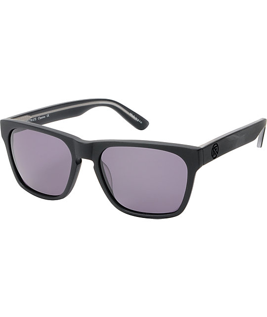 Filtrate Strummer Matte Black & Grey Sunglasses