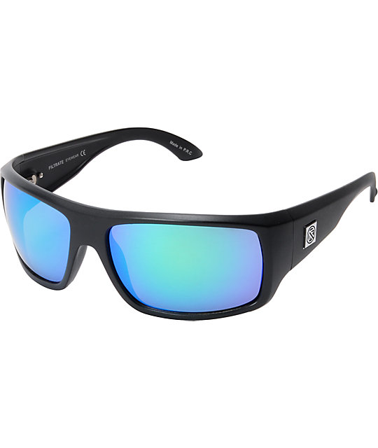 Mirror Polarized Sunglasses  filtrate trader one matte black mirror polarized sunglasses at